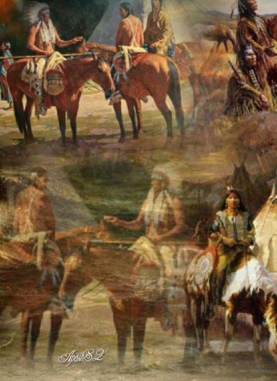 Amérindienne  LES  INDIENS