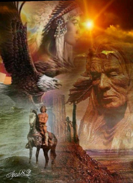 Amérindienne  un magnifique  journée  de dimanche  à tous