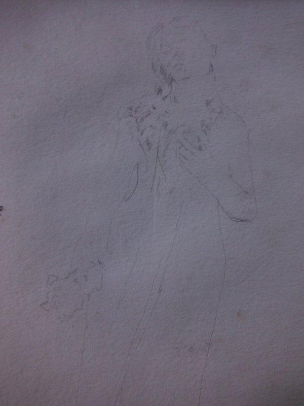 dessin en cours et soleil du jour ;)