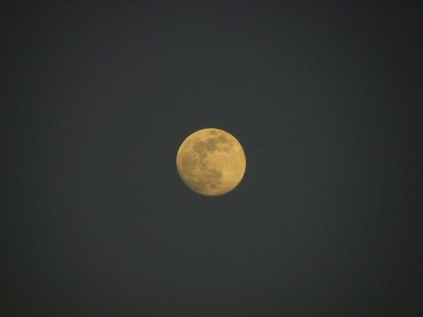 Superbe lune du soir et autre.