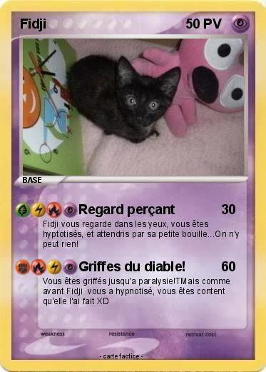 Ma carte pokémon, Fidji niveau base(XD)