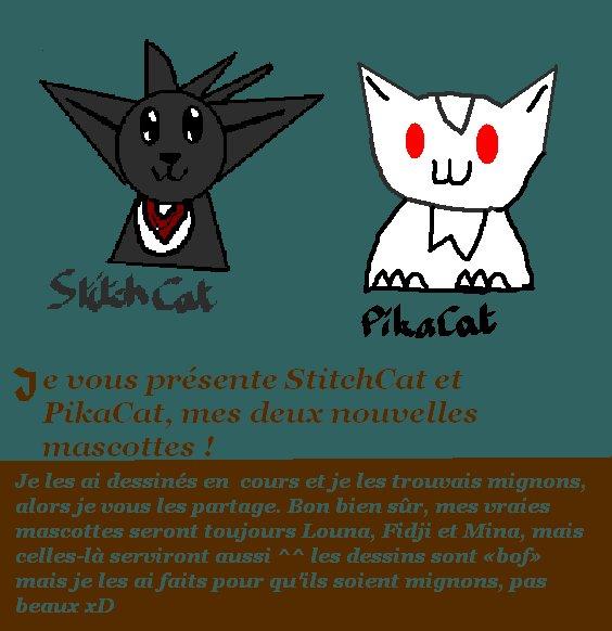 Dessins : StitchCat et PikaCat