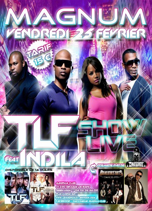 """TLF & INDILA EN SHOW LIVE + PREMIERE PARTIE """"BANLIEUES'ARTS"""""""
