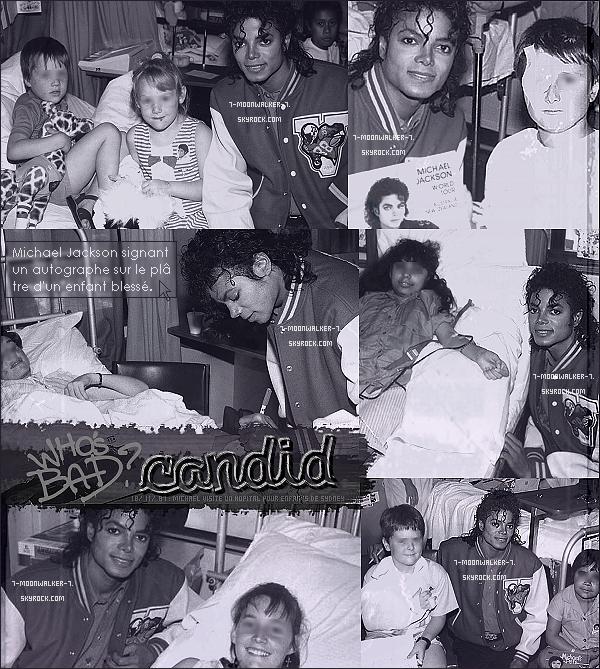 . 12/11/87 : Michael Jac. a été aperçu rendant visite « aux enfants hospitalisés » de l'hôpital pour enfants de Sydney..