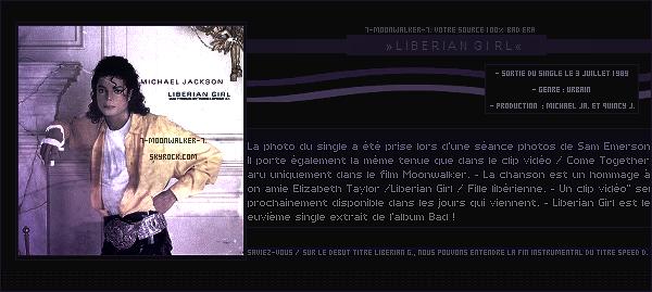 . 03/07/89  : Sortie du dernier single extrait de l'album « Liberian Girl » ! .