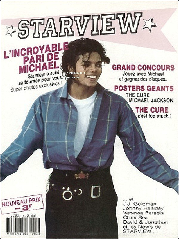 . Flashback 1987 : Michael Jackson faisait la couverture du magazine « Starview » en France !.