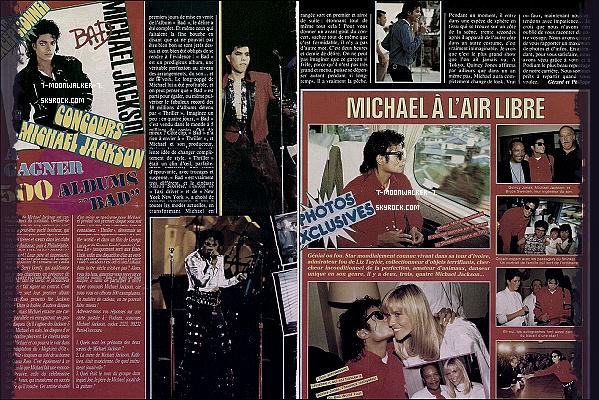 . Octobre 1987  : Michael Jackson fait la une de plusieurs magazines dans le monde dont européens !.