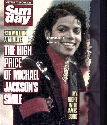 . 15/03/87   : Michael Jackson fait la couverture du magazine « Sunday » au Royaume-Uni..