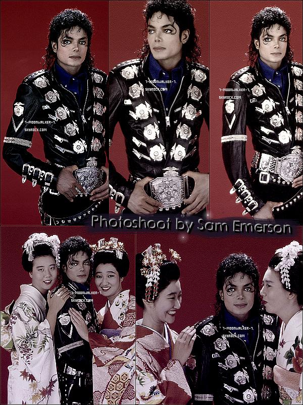 . Découvrez l'un des photoshoots rares de Sam Emerson avec Michael Jackson !  - Ce photoshoot a été prit par Sam Emerson lors de la tournée japonaise de Michael Jackson donc au Japon en 1987 ! © - .
