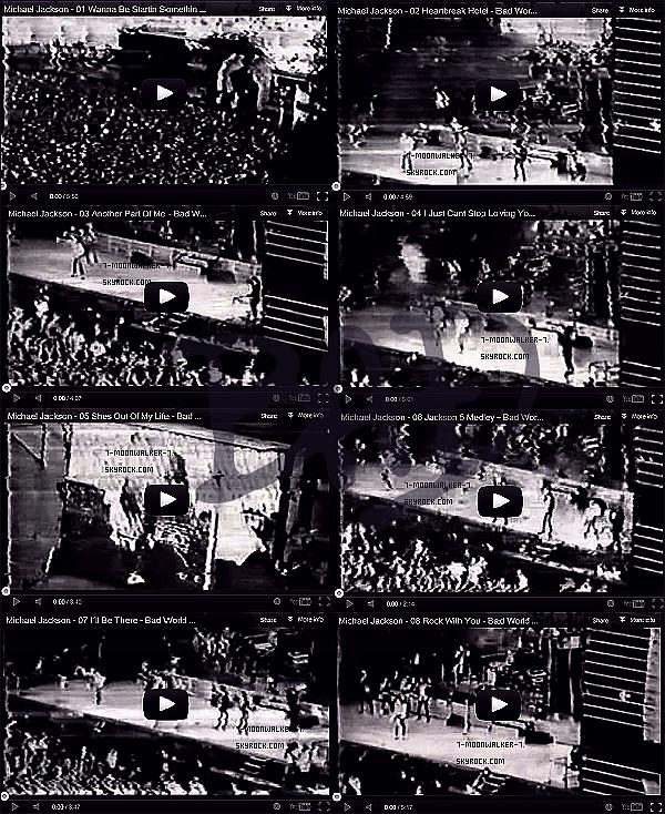 . Du 11/06/88 au 12/06/88 : Michael Jackson donne deux concerts au  « Eriksbergs Shipyard » en Suède.– CANDID FLASHBACK :  Il avait été aperçu passant du bon temps au parc d'attraction « Liseberg » en Suède.  .