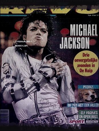 . 09/06/88  : Michael Jackson fait la couverture du magazine « Nieuwe Revu » aux Pays-Bas !.