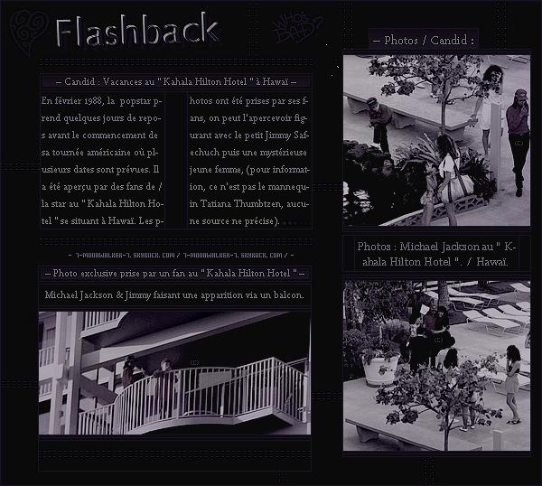 . – Article n°..  / Posté le 24/02/88 / Candid : Michael Jackson a été aperçu se rendant dans un magasin de « Sandiag » à Kansas City.  – Concert : Le soir même, il donne un dernier concert au « Kemper Ar. » devant 16 960 personnes ... .