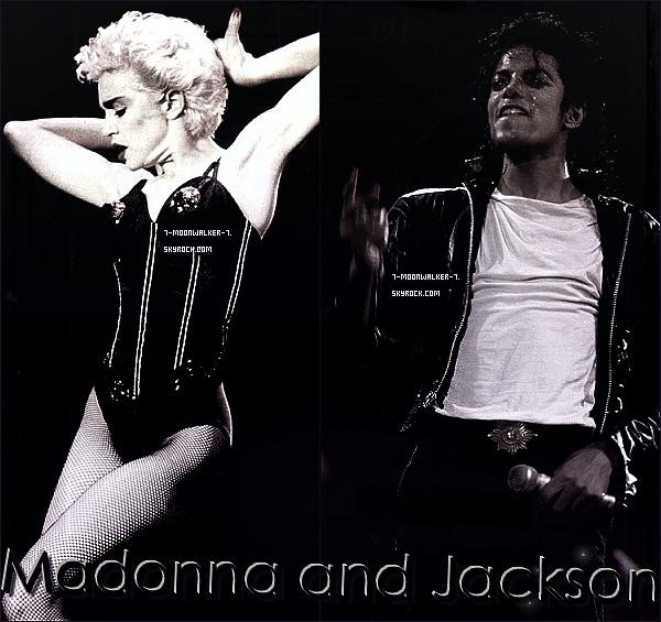 """. Catégorie / Collaboration : Les deux phénomènes de l'année 1987 ! . – Le hasard à voulut que nous nous intéressons à ces deux superstars de la pop mondiale – qui sont sans doute les deux plus grands talents de leur génération ! - Et bien évidement à leurs extraordinaires tournées mondiales qui furent leurs toutes premières ! À eux seul, ils parviendront à réussir l'exploit de faire les deux tournées qui ont marqué cette décennie des années 1980, nous parlons évidement du fameux """"Bad World Tour"""" de Michael Jackson et le """"Who's That Girl World Tour"""" de Madonna ! Pourquoi ces tournées ont-elles marqués ? La tournée de Michael n'est pas encore terminée en cette année 1987, elle vient juste de commencer et déjà, la tournée fait carton plein ! En revanche celle de Madonna a commencé le 14 juin au Japon à Osaka et s'est terminé le 6 septembre 1987 soit quelques mois de tournée pour la Madone. Pour Michael, la tournée continue et fait un immense succès dans le monde ! Pourquoi s'est deux tournées sont si spectaculaires ? Tout d'abord celle de Madonna, des superbes chorégraphies en passant également sur les tenues de scène qui nous fait rappelé l'excentricité de Madonna ! Et la Queen of Pop plus en forme que jamais et qui est très proche de son public et de ses fans ! Elle ne fait aucun playback et chante merveilleusement bien sans aucune fausse note ! Pour Michael, nous pouvons dire que c'est à peu près pareil, tout aussi impressionnant ! Les chorégraphies sont encore plus impressionnantes, Michael nous prouve que c'est bien lui le King of Pop ! Et ses tenues sont composé de cuire, de métal etc... Nous pouvons dire que M. Jackson et Madonna ont marqué à eux deux l'année 1987 ! Et même plus que ça encore ! . – Un article en collaboration avec le blog MaterialWorld.skyrock.com. – ."""