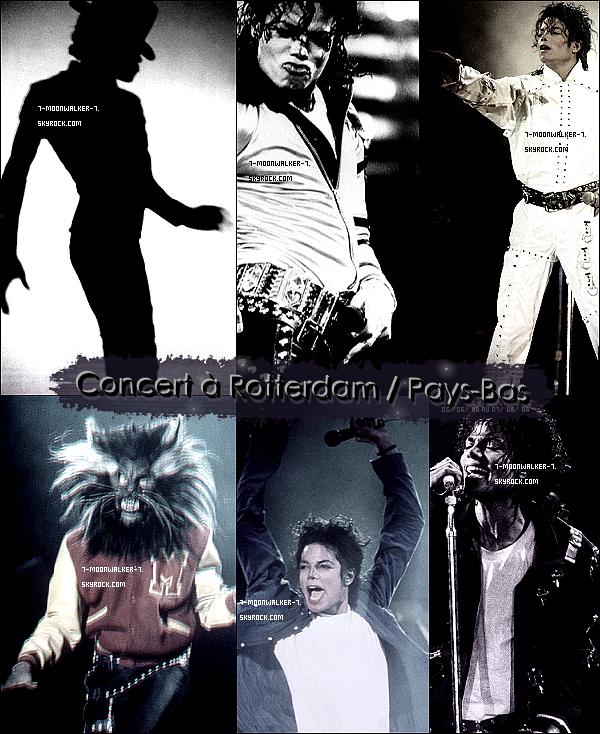 . 05/06/88 au 07/06/88 : Michael Jackson donne plusieurs concerts consécutifs au « Feyenoord Stadion » à Rotterdam..