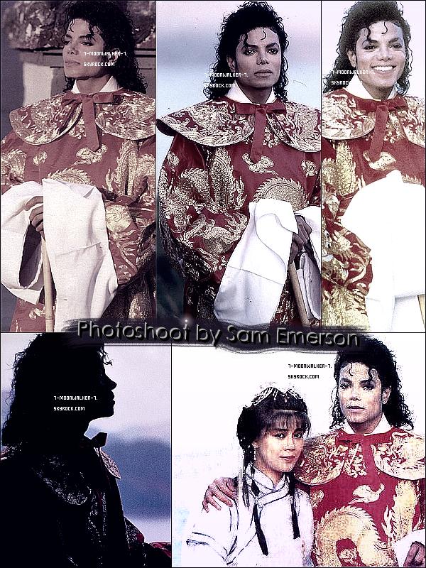 . Découvrez l'un des photoshoots rares de Sam Emerson avec Michael Jackson !  - Ce photoshoot a été prit par Sam Emerson lors d'un séjour en Chine avec Michael Jackson en octobre 1987 ! © - .