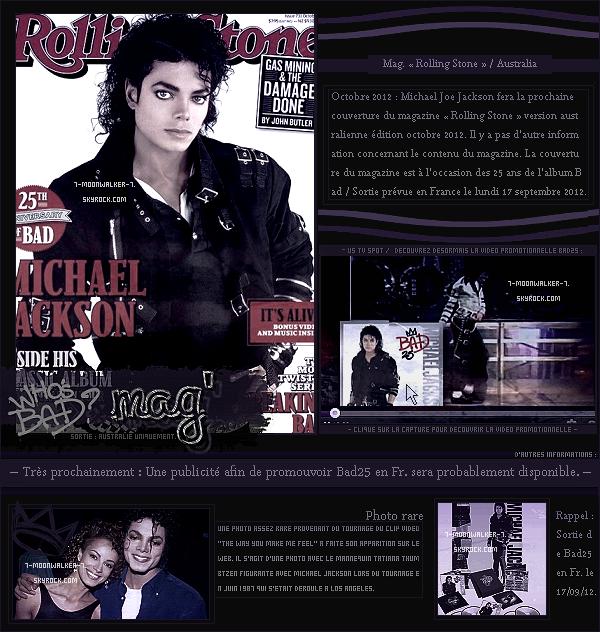 . Juin 1988 : Michael Jackson fait la couverture puis les pages du magazine afro-américain  « Ebony » aux Usa !  .