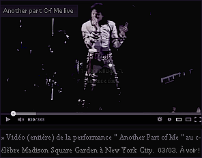 . – Article n°..  / Posté le 03/03/88 / Concert : Michael Jackson donne un concert privé au « Madison Square Garden » à New York City.  Il embrasse également Tatiana Thumbtzen lors de la performance « The Way You Make Me Feel » ! .