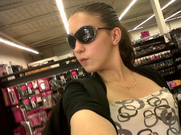 moi dans un magasin