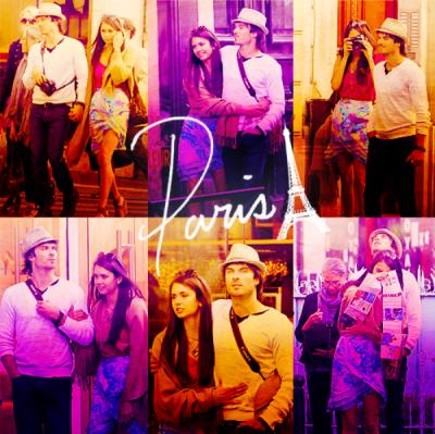 Ian et Nina lors d'un séjour à Paris..