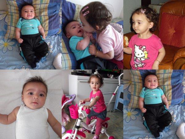 Mes Enfants Séléna 20 mois et Juan-José 3 mois
