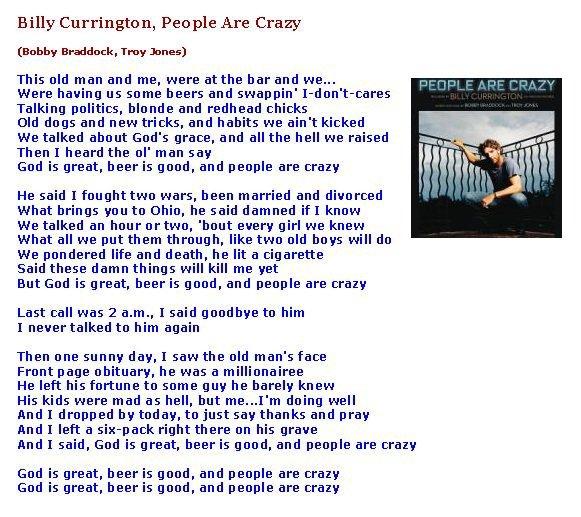 ****  People Are Crazy (Parole)  ****