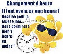 CHANGEMENT D'HEURE !