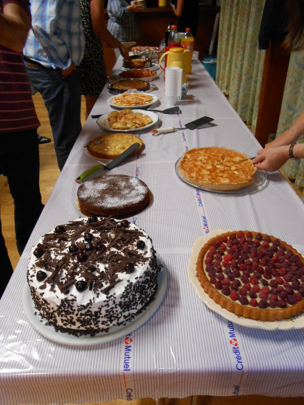 LES DESSERTS ! merci aux membres pour la confection des bons gâteaux