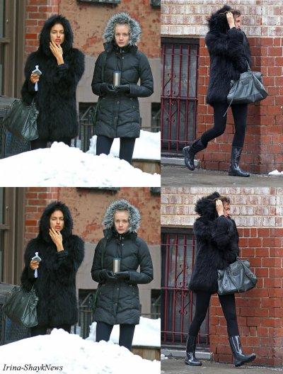 Irina shayk et une amie à New-York City.