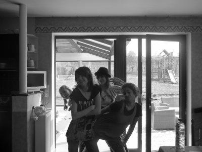 Naaathalie , Jill ,Justine et moi