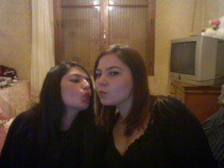 Photo de moi et ma meilleur amie la plus belle des morenas <3