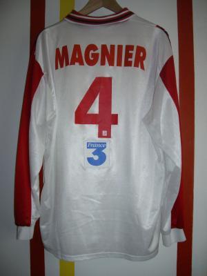 Maillot porté coupe de la ligue 1997/1998 par Cyrille Magnier