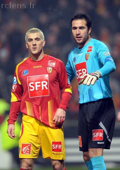 Maillot porté coupe de France Lens-Brest 2010 Kasraoui
