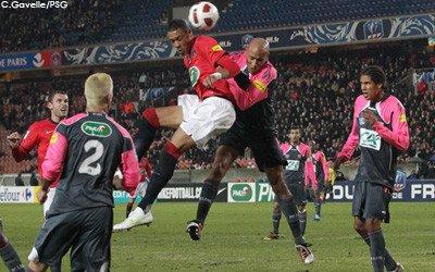 Maillot porté PSG-Lens 32ème de finale coupe de France 2011