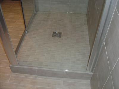 Sdb apres 3 habitag - Faire une douche italienne sans receveur ...