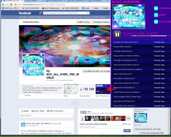 Dj-NCF_ALL_OVER_THE_WORLD Sur Facebook ( 162.500 Fans ) and even more in the World