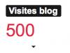 Merci pour mes 500 visiteurs
