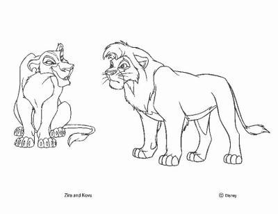 Le roi lion 2 colorier special disney 100 le monde for Kovu coloring pages