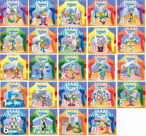 "gervais Bulgarie ""DANONINO"" le cirque ""les stickers"" & ""les figurines"" 2011"