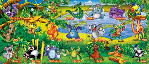 """gervais Argentine """"LESERENISIMA DANONINO"""" les stickers puzzle 2011"""