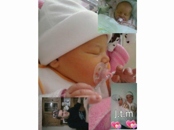 mon homme ma première fille zoé bébé et ma deuxième fille alicia