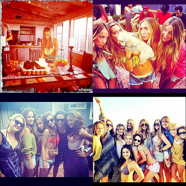 Quelques photos postées sur Instagram, prises le jour de l'anniversaire d'Ashley.