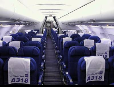 L 39 interieur d 39 un airbus 318 les g ants du ciel for Interieur d avion