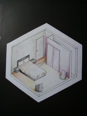 l 39 appartement la chambre plan un monde de dessin. Black Bedroom Furniture Sets. Home Design Ideas