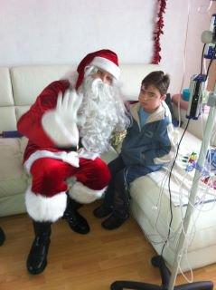 Le Père Noel de passage chez Guillaume