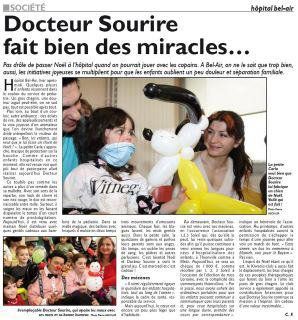 DOCTEUR-SOURIRE ET LA LIGUE CONTRE LE CANCER PARTENAIRE