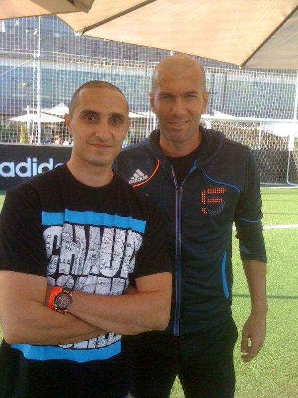 Zinedine Zidane Family 2014 Sat L'artificier et Zi...