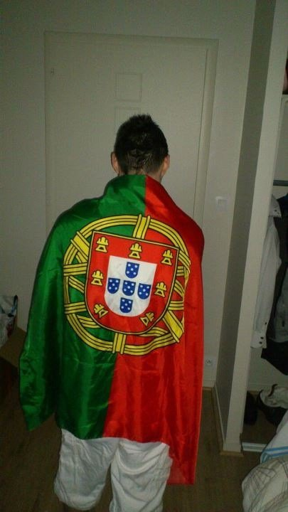 de dos avec le drapeau du Portugal