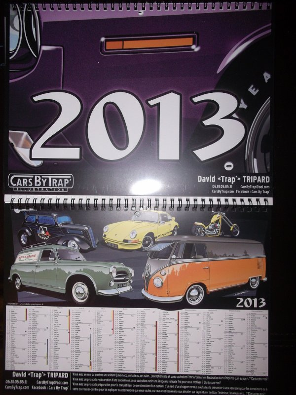 Calendrier 2013, Made in CARS-BY-TRAP !