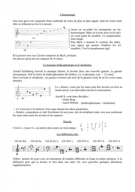 Fiches de théorie musicale, solfège - II
