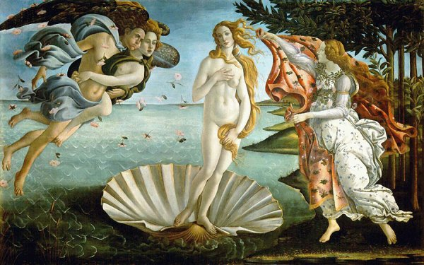 TPE - 1ère S : La Naissance de Vénus de Botticelli, nombre d'or PARTIE I